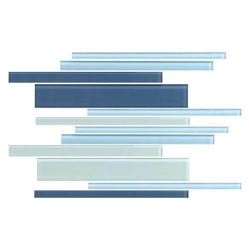 GlassTile Color Wave™ Winter Blues Random Mosaic CW27 main image