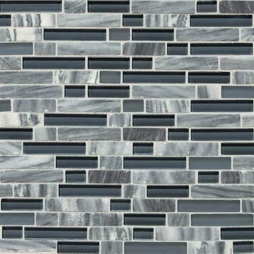 Stone Radiance Glacier Gray Marble Random Mosaic Blend SA59