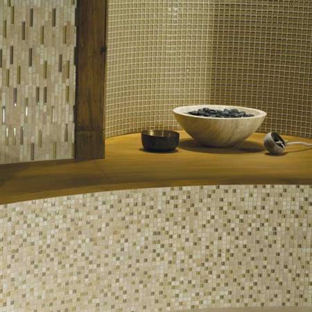 Stone Radiance Butternut Emperador Random Mosaic Blend SA60