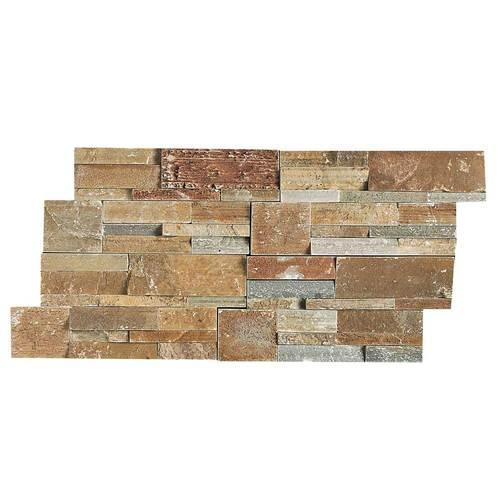 Stacked Stone Shanghai Rust Stacked Stone Natural Cleft Ungauged S349
