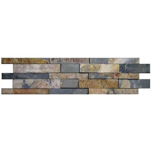 Stacked Stone Autumn Mist Random Kayla High-Low Natural Cleft Ungauged S772