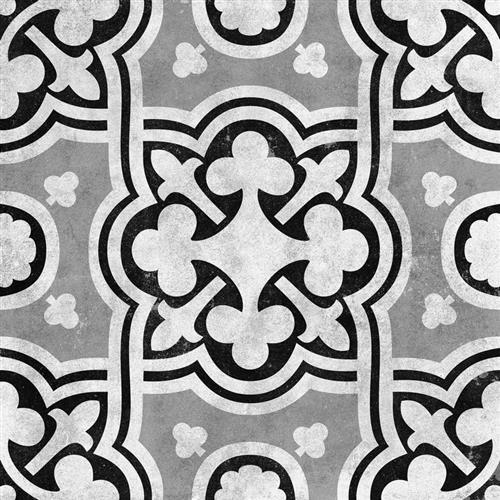 Cementine Ceramic Contrast Fiori