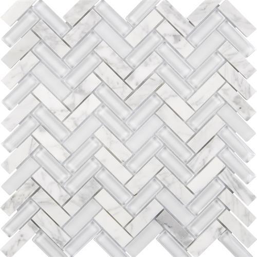 White - Herringbone