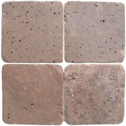 Mexican Travertine Chocolate Chocolate - 6X6 Mosaic