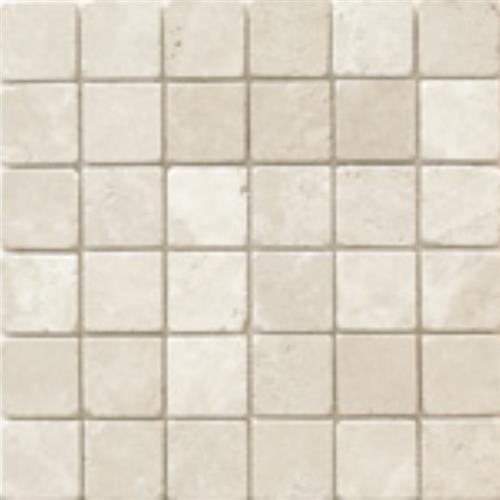 Mexican Travertine Crema Imperial Venato Crema - 2X2 Mosaic