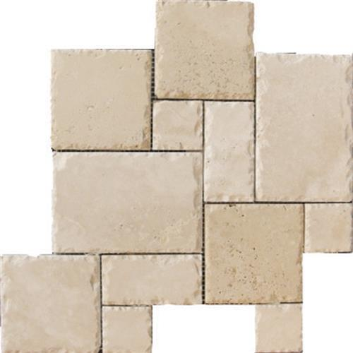 Mexican Travertine Crema Imperial Venato Crema - Versailles Mosaic