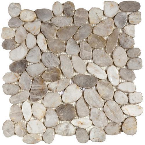 River Rock Snowball Sliced Mosaic