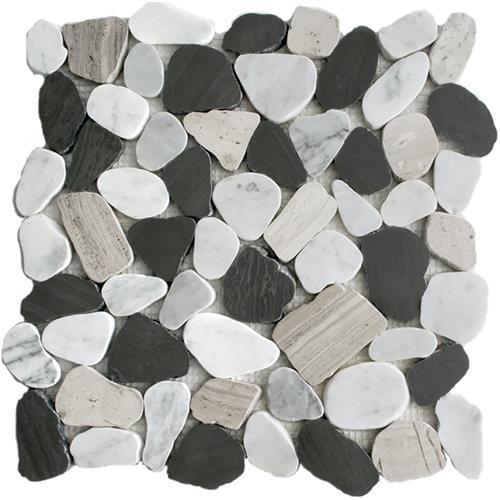 River Rock Urban Blend Sliced Mosaic