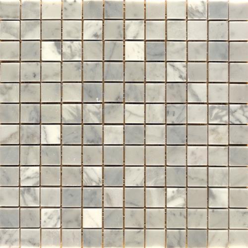 White Carrara - 1x1 Mosaic