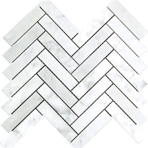 White Carrara - Herringbone