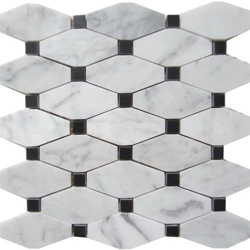 Marble White Carrara White Carrara - Rhombus