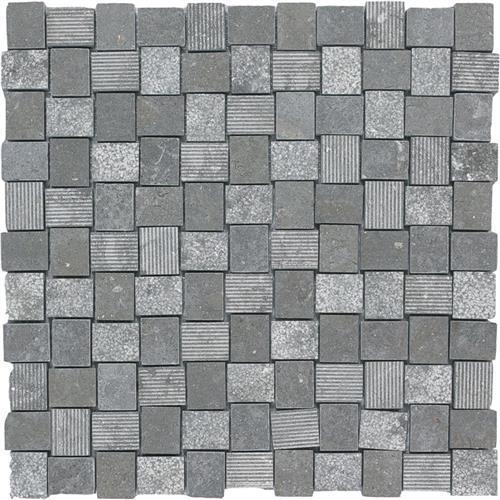 Limestone  Blue Lagos 1X125 Hi/Lo Mosaic