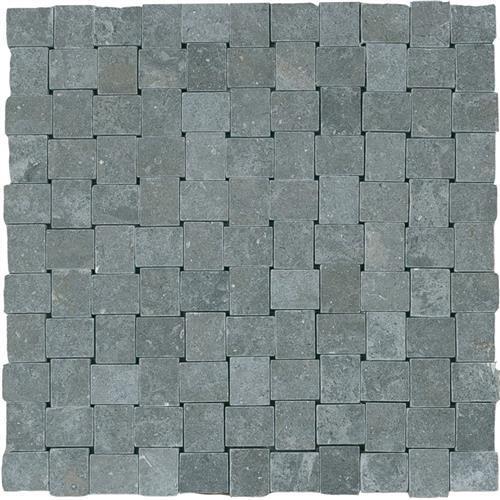 Limestone  Blue Lagos 1X125 Suede Mosaic