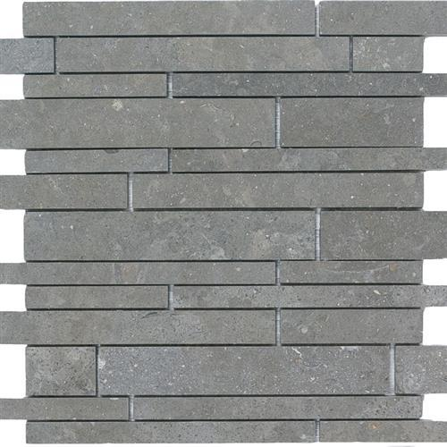 Limestone  Blue Lagos 12X12 Suede Linear Mosaic