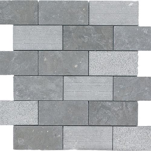 Limestone  Blue Lagos 2X4 Hi/Lo Mosaic