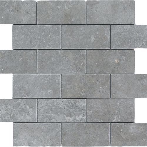 Limestone  Blue Lagos 2X4 Suede Mosaic