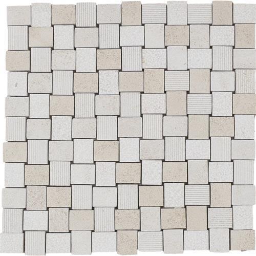 Limestone  Golden Beach 1X125 Hi/Lo Mosaic