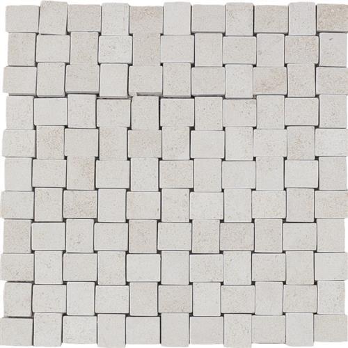 Limestone  Golden Beach 1X125 Suede Mosaic