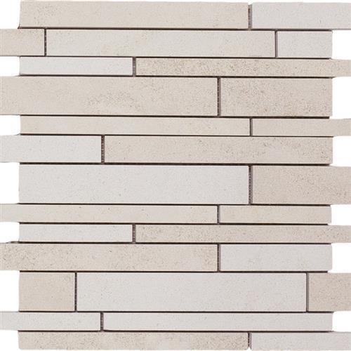Limestone  Golden Beach 12X12 Suede Linear Mosaic