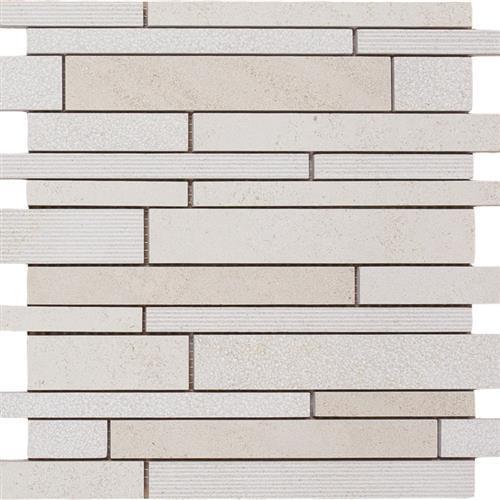 Limestone  Golden Beach 12X12 Hi/Lo Linear Mosaic
