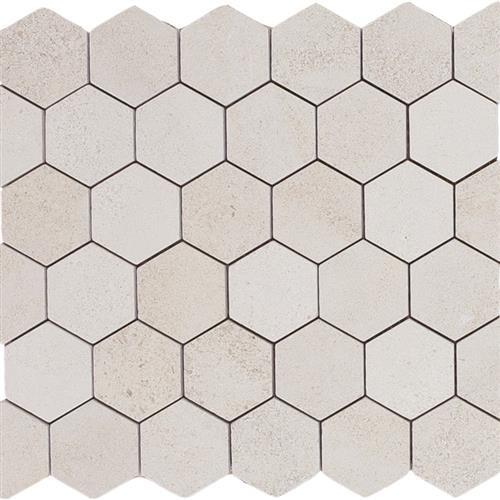 Limestone  Golden Beach 2X2 Suede Hexagon Mosaic