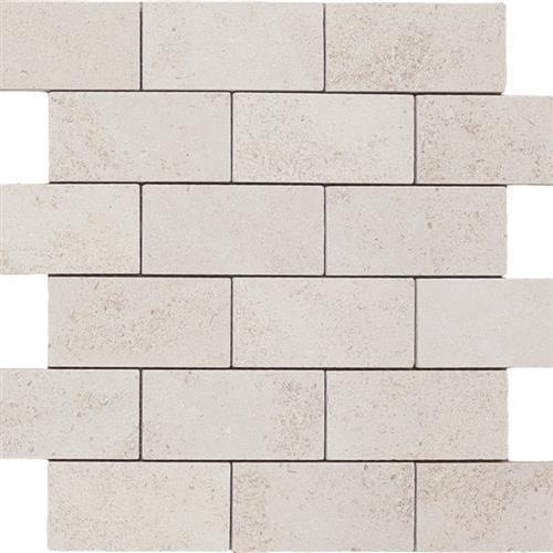 Limestone  Golden Beach 2X4 Suede Mosaic