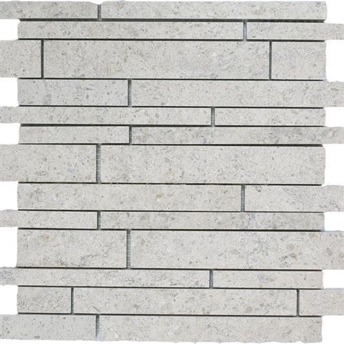 Limestone  Gascogne Blue 12X12 Suede Linear Mosaic