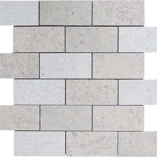 Limestone  Gascogne Blue 2X4 Hi/Lo Mosaic