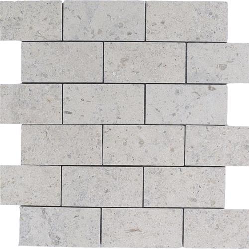 Limestone  Gascogne Blue 2X4 Suede Mosaic