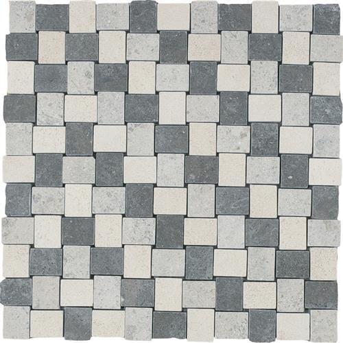 Limestone  Mixage 1X125 Suede Mosaic