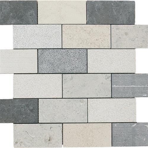 Limestone  Mixage 2X4 Hi/Lo Mosaic