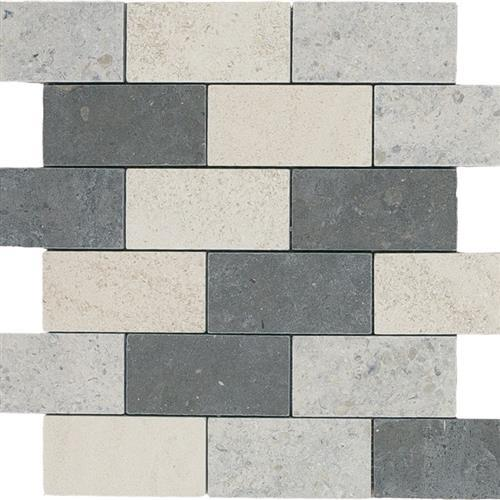 Limestone  Mixage 2X4 Suede Mosaic