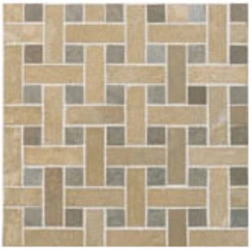 Limestone  Mixage Basketweave 12X12 Mosaic Honed