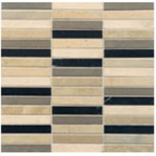 Limestone  Mixage Longbrick 12X12 Mosaic Honed