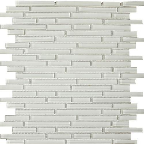 Lucent Glass Linear Mosaics Blanc Linear