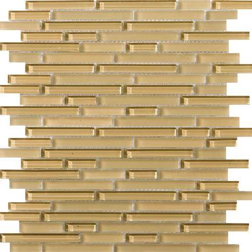 Lucent Glass Linear Mosaics Honey Linear