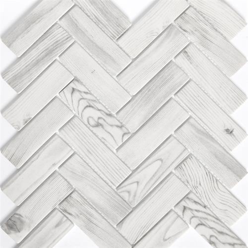 Echo White Herringbone