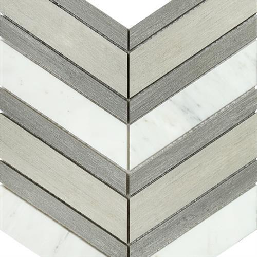 Chevron - Gray And Fawn