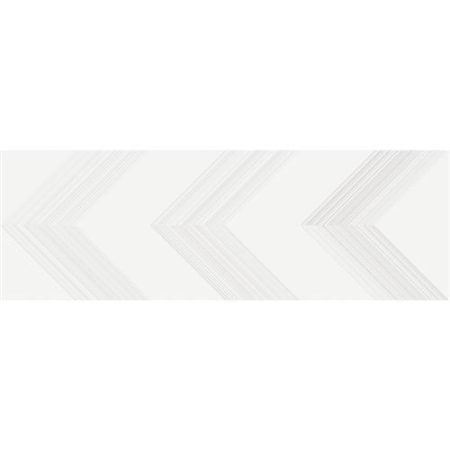 Vertigo White Chevron 10X30