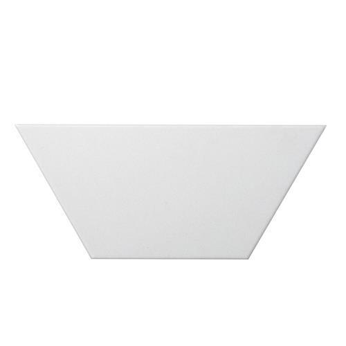 """White Trapezoid 4""""x9"""""""