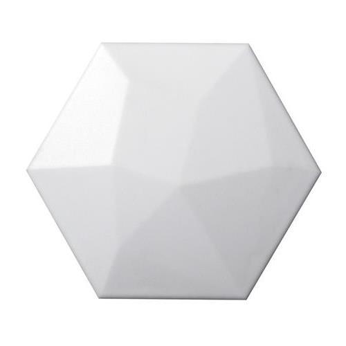 "White Hexagon High 6""x7"""
