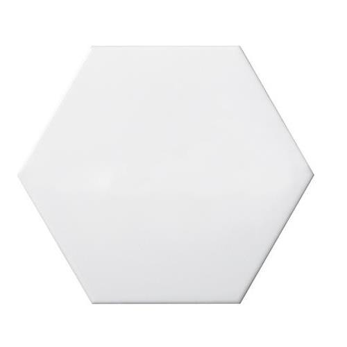 """White Hexagon Smooth 6""""x7"""""""