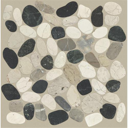 Pebble Sliced in Tranquil Cool Blend - Tile by Shaw Flooring