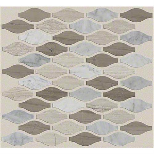 Pearl Ornament Mosaic in Bianco C Rockw Urba - Tile by Shaw Flooring