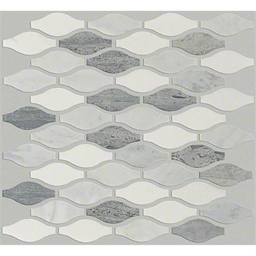 Pearl Ornament Mosaic in Bianco C Blue G Thas - Tile by Shaw Flooring