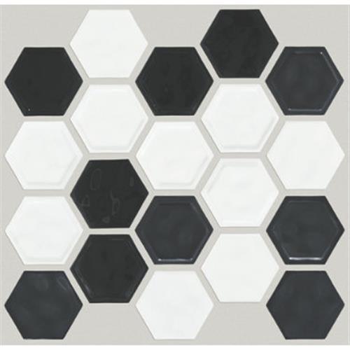GEOSCAPES HEXAGON Black/White 00151