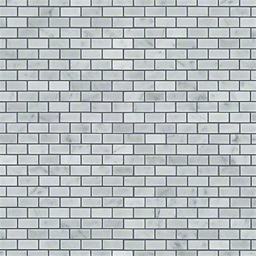 Chateau Mini Brick Mosaic Bianco Carrara 00150