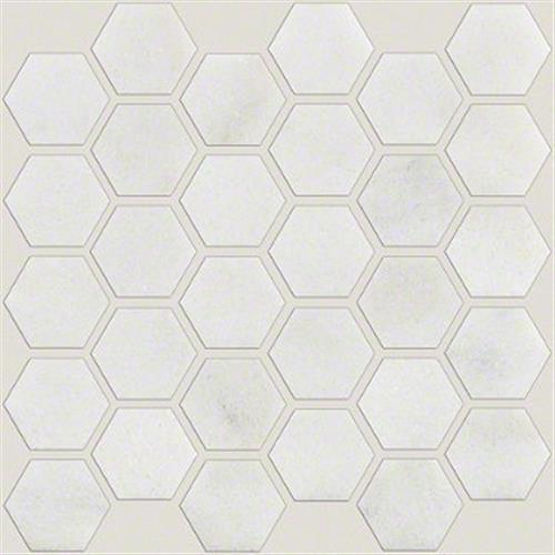 Boca Hexagon Polished Mosaic Pearl 00101