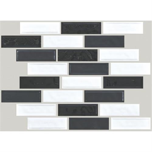 GEOSCAPES RANDOM LINEAR Black/White Blend 00151