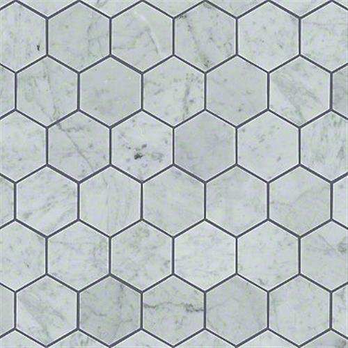 PEARL MOSAIC HEX Bianco Carrara 00150
